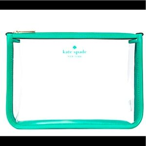 NWT Kate Spade Addie See Through Cosmetic Pouch